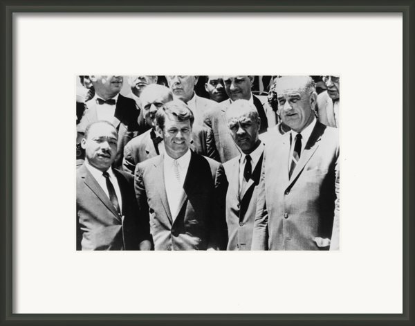 Civil Rights Leaders L To R Martin Framed Print By Everett