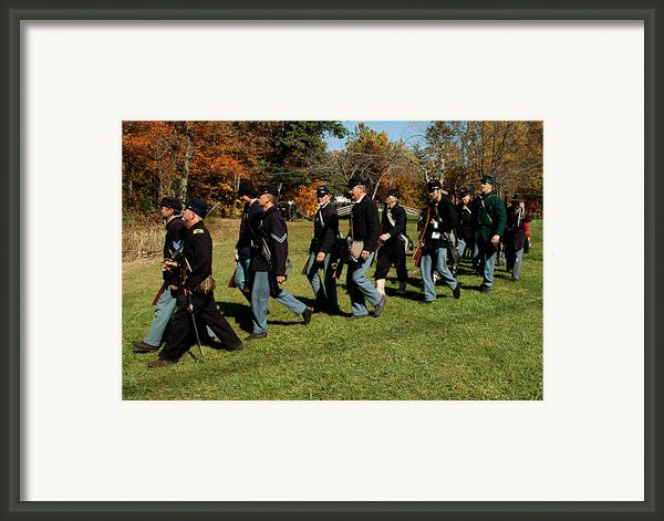 Civil Soldiers March Framed Print By Leeann Mclanegoetz Mclanegoetzstudiollccom