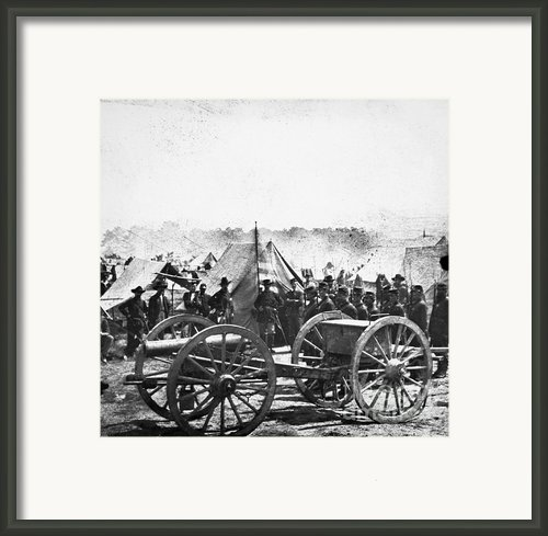 Civil War: Howitzer Gun Framed Print By Granger