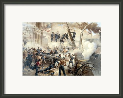 Civil War Naval Battle Framed Print By War Is Hell Store