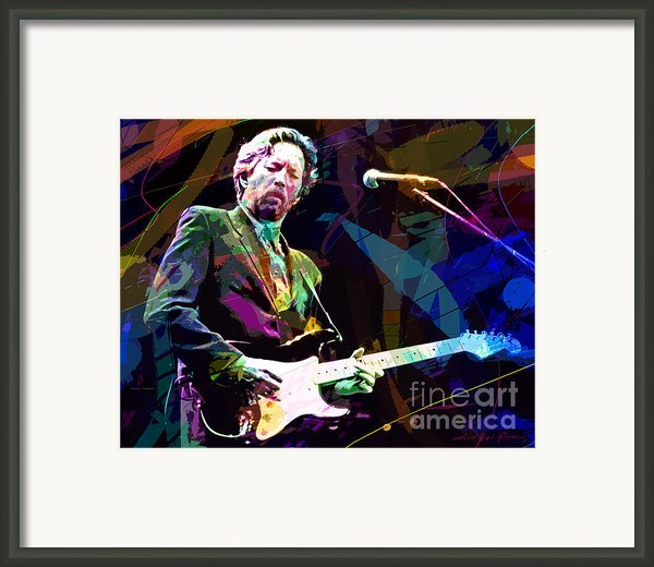 Clapton Live Framed Print By David Lloyd Glover