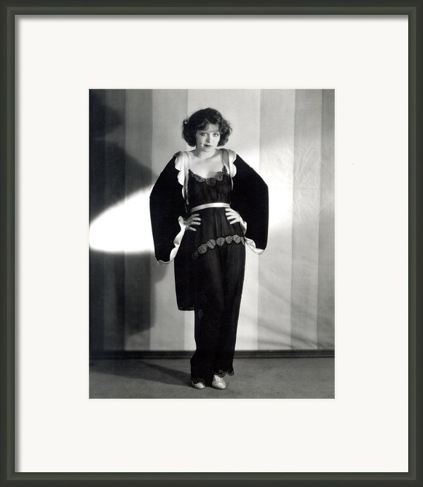 Clara Bow, Around 1929 Framed Print By Everett
