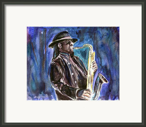 Clarence Clemons Framed Print By Clara Sue Beym