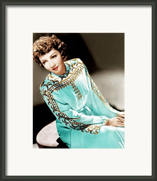 Claudette Colbert, Ca. 1940s Framed Print By Everett