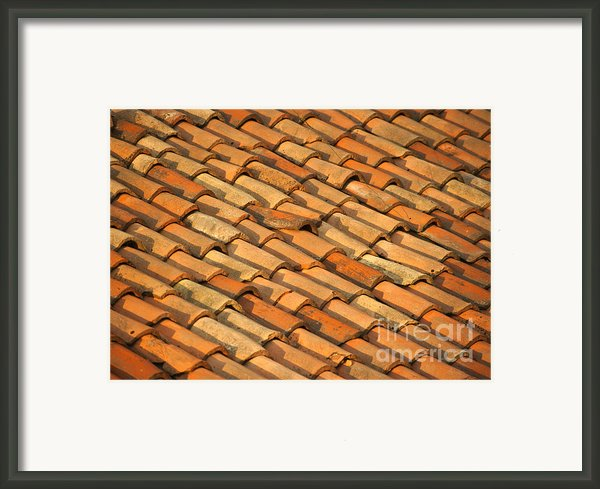 Clay Roof Tiles Framed Print By David Buffington