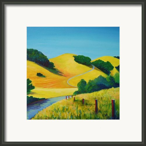 Clear Fall Day At Briones Framed Print By Stephanie  Maclean