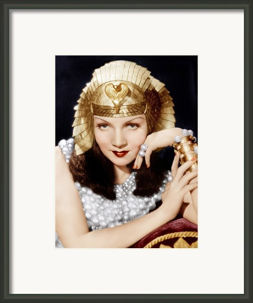 Cleopatra, Claudette Colbert, 1934 Framed Print By Everett