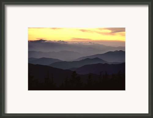 Clingmans Dome Is The Highest Point Framed Print By James P. Blair