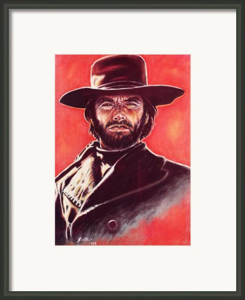 Clint Eastwood Framed Print By Anastasis  Anastasi
