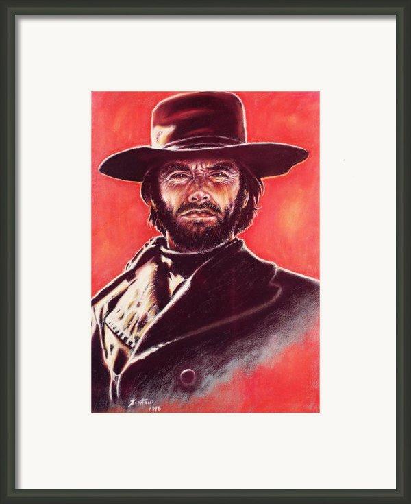 Clint Eastwood Framed Print By Anastasis  Anastasi