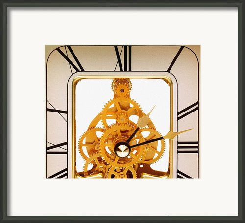 Clock Mechanism Framed Print By Victor De Schwanberg