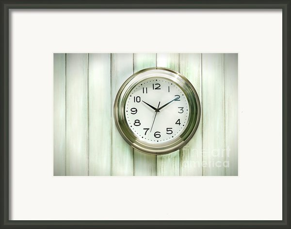 Clock On The Wall Framed Print By Sandra Cunningham