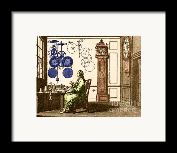 Clockmaker Framed Print By Photo Researchers