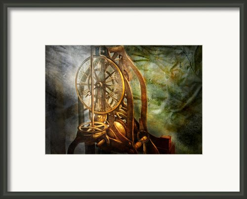 Clockmaker - The Day Time Stood Still  Framed Print By Mike Savad