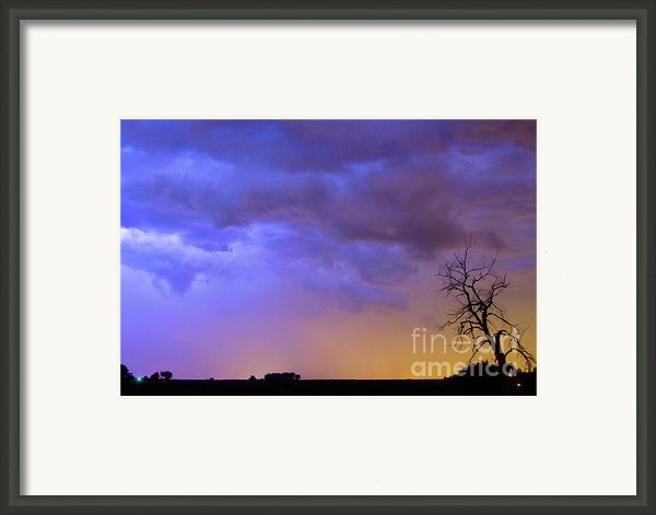 Clolorful C2c Lightning Country Landscape Framed Print By James Bo Insogna