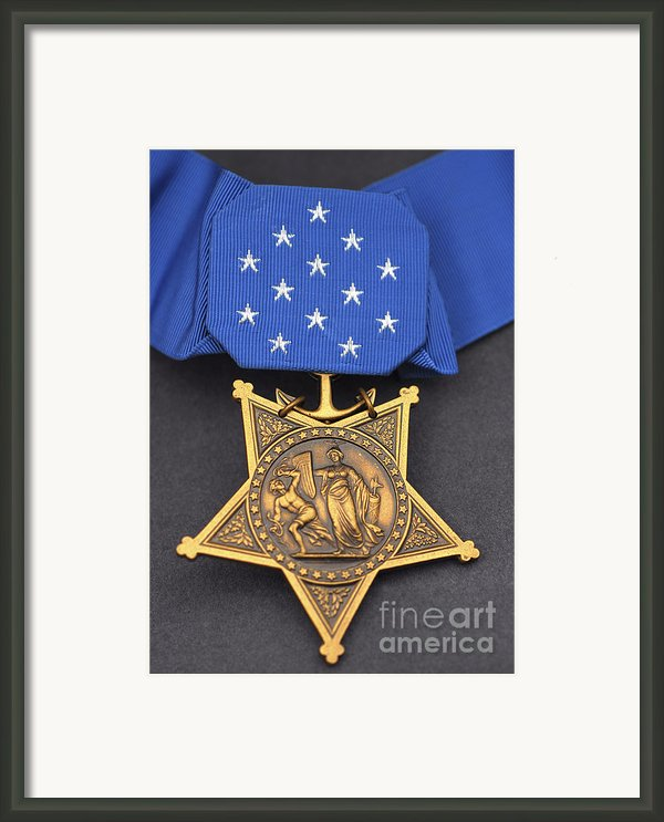Close-up Of The Medal Of Honor Award Framed Print By Stocktrek Images