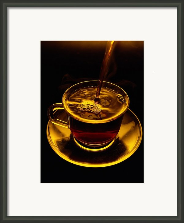 Close View Of Coffee Being Poured Framed Print By Sam Abell