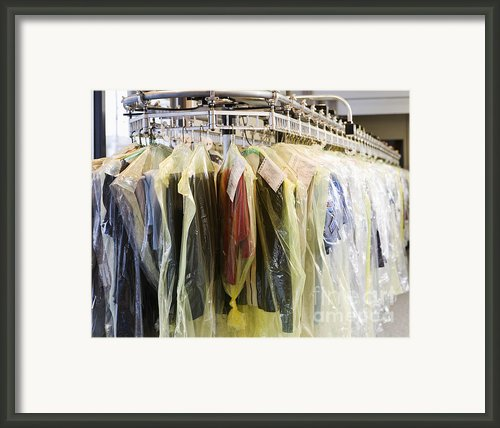 Clothing At Dry Cleaners Framed Print By Andersen Ross