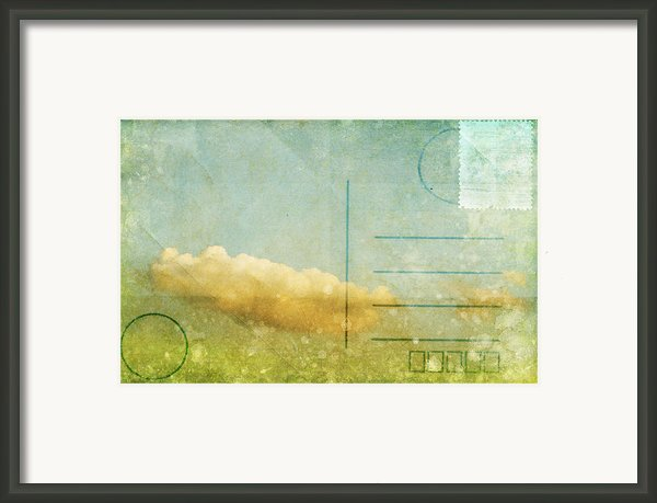 Cloud And Sky On Postcard Framed Print By Setsiri Silapasuwanchai