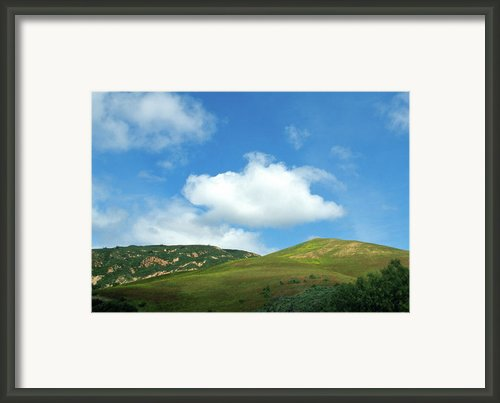 Cloud Over Hills In Spring Framed Print By Kathy Yates