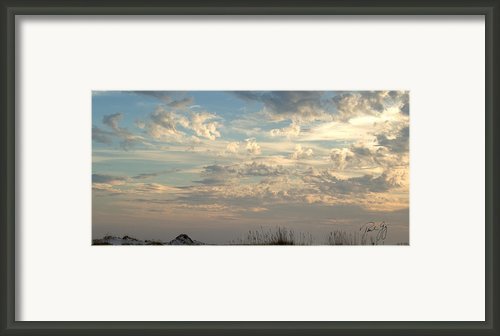 Clouds Gulf Islands National Seashore Florida Framed Print By Paul Gaj