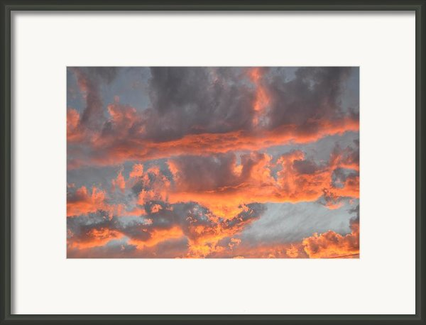 Clouds On Fire Framed Print By Kevin Bone