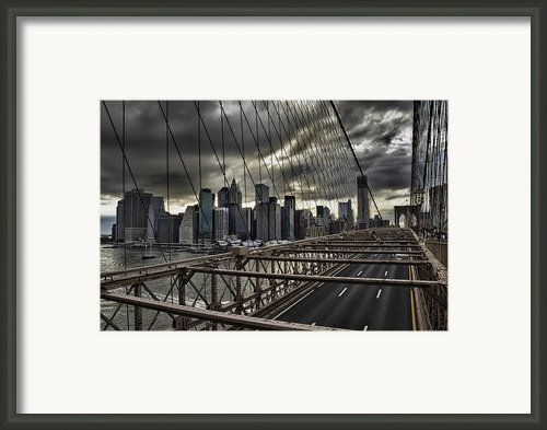 Clouds Over Manhattan Framed Print By Andreas Freund