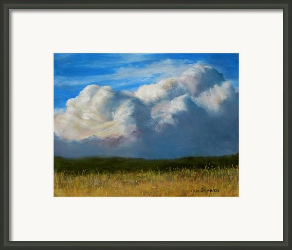 Clouds Over The Meadow Framed Print By Jack Skinner