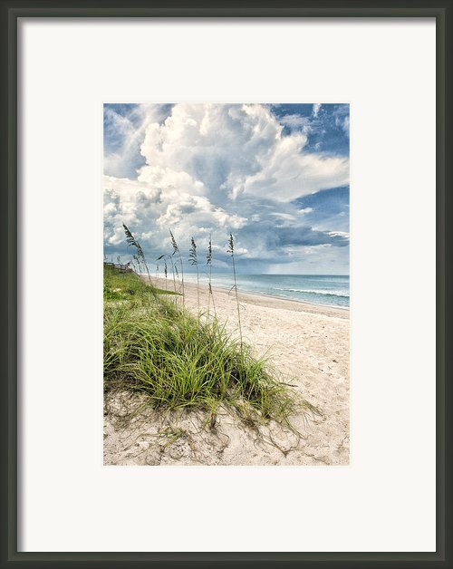 Clouds Over The Ocean Framed Print By Cheryl Davis
