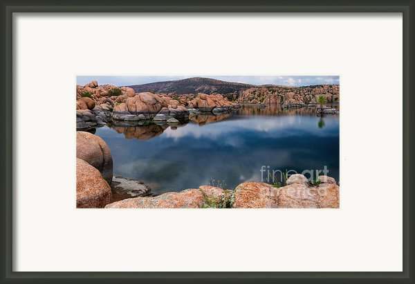 Clouds Over Watson Lake Framed Print By Dave Dilli