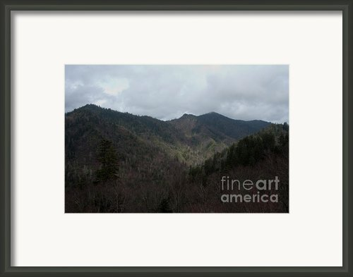 Cloudy Mountain Framed Print By Michael Waters