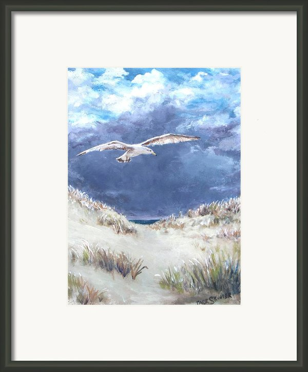 Cloudy With A Chance Of Seagulls Framed Print By Jack Skinner