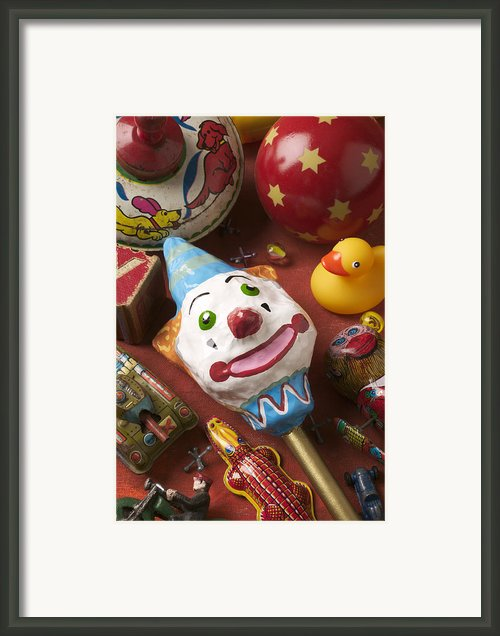 Clown Rattle And Old Toys Framed Print By Garry Gay