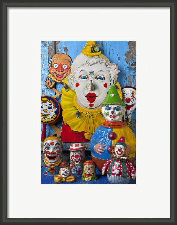 Clown Toys Framed Print By Garry Gay