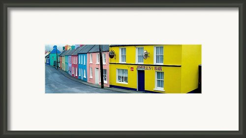 Co Cork, Eyeries Village In The Rain Framed Print By The Irish Image Collection