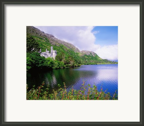 Co Galway, Ireland, Kylemore Abbey Framed Print By The Irish Image Collection