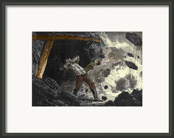 Coal Mine Explosion, 19th Century Framed Print By Sheila Terry