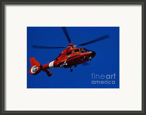 Coast Guard Helicopter Framed Print By Stocktrek Images