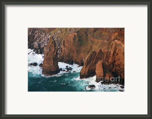 Coastal Detail Framed Print By Gaspar Avila
