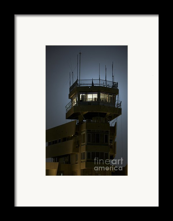 Cob Speicher Control Tower Framed Print By Terry Moore