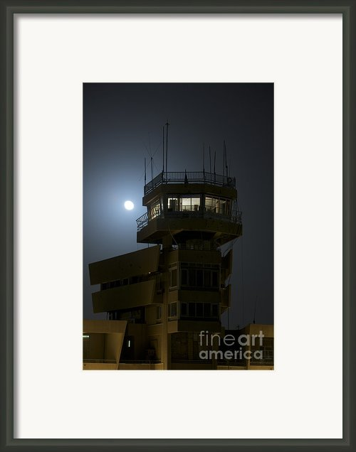 Cob Speicher Control Tower Under A Full Framed Print By Terry Moore
