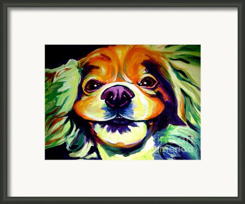 Cocker Spaniel - Cheese Framed Print By Alicia Vannoy Call