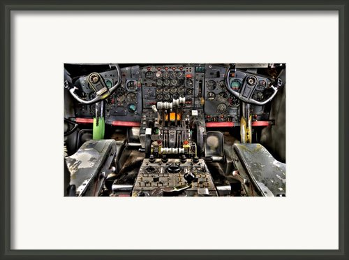 Cockpit Controls Hdr Framed Print By Kevin Munro