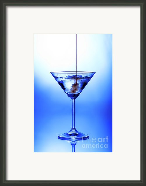 Cocktail Being Poured Framed Print By Jane Rix