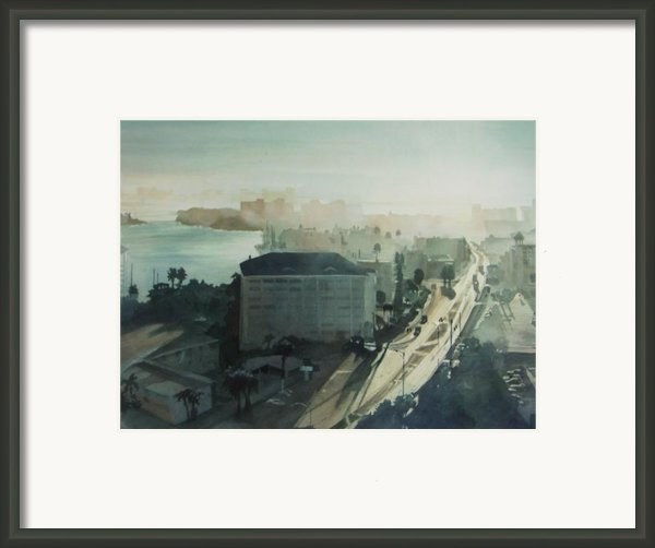 Cold Dawn On Gulf Boulevard Framed Print By Elizabeth Carr