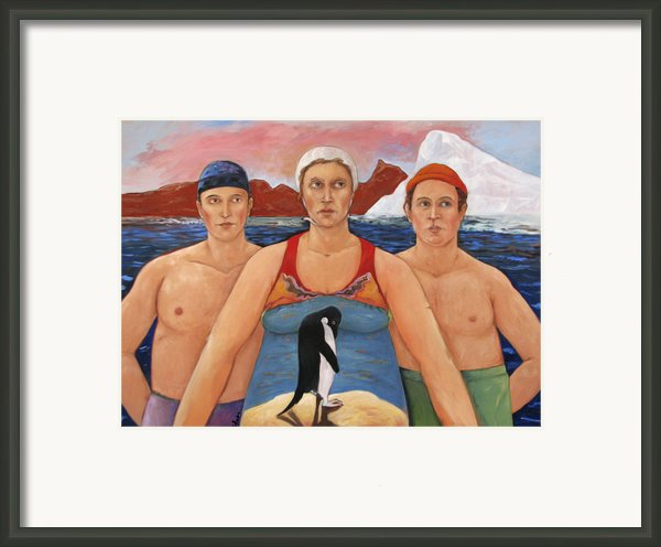 Cold Water Swimmers Framed Print By Paula Wittner
