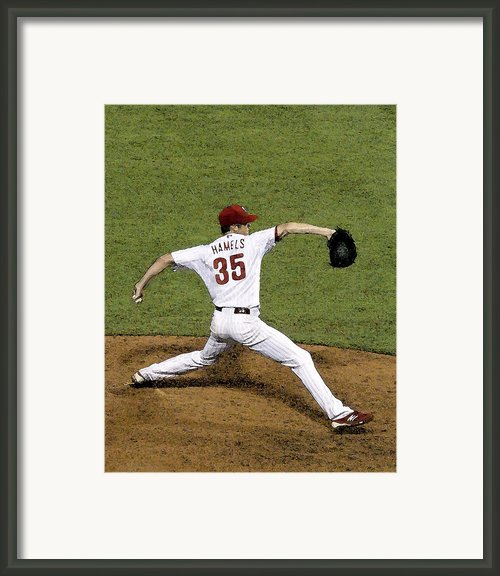 Cole Hamels Framed Print By Gerry Mann