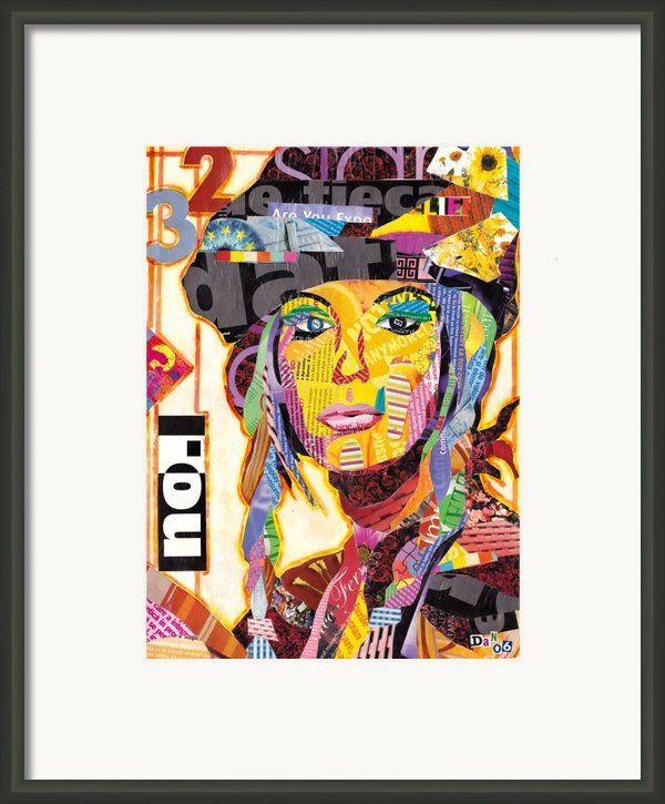Collage Portrait Framed Print By Oprisor Dan