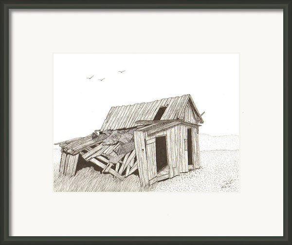 Collapsed Framed Print By Pat Price