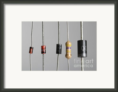Collection Of Electronic Components Framed Print By Photo Researchers